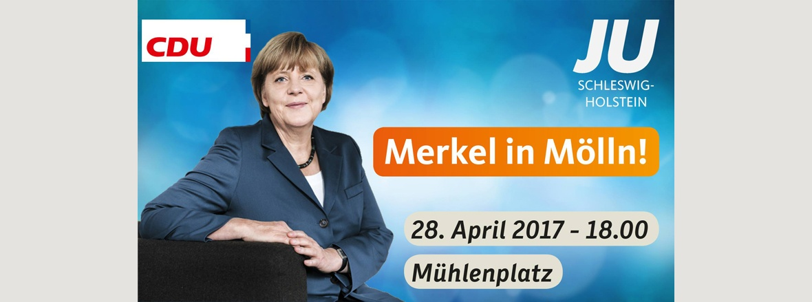 Angela Merkel kommt nach Mölln
