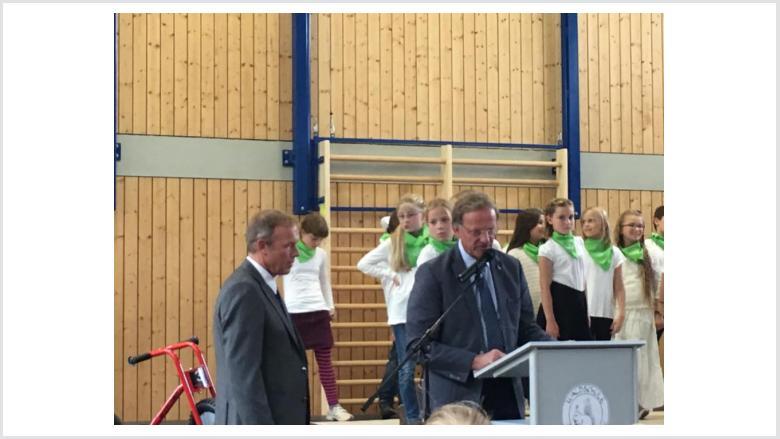 Der Klassentrakt der Waldschule wurde eingeweiht